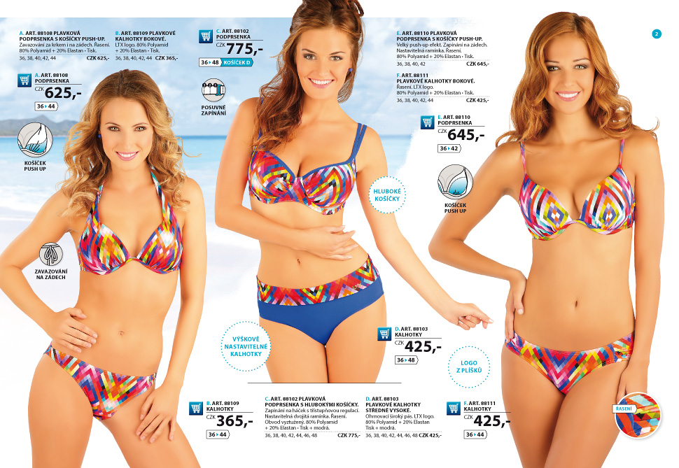 3e74589c086 Dámské plavky 2016 - katalog  2