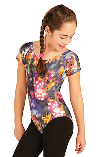 Kid´s sportswear LITEX > Children´s leotard with short sleeves.
