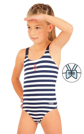 Jednodielne dievčenské plavky. | Dievčenské plavky LITEX
