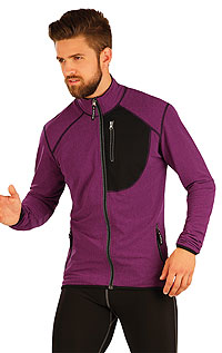 For runners - bikers LITEX > Men´s jumper with stand up collar.