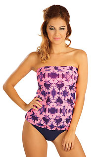 Tankini top with removable pads. LITEX