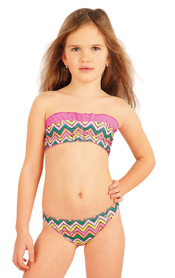 Girl´s bikini BANDEAU top. | Kid´s swimwear - Discount LITEX