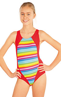 Girls swimwear LITEX > Girl´s one-piece sport swimsuit.