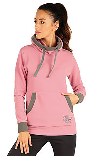 Fleece Damen Sweatshirt mit Kapuzen. LITEX