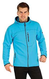 Men´s fleece hooded jumper. LITEX