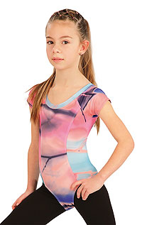Kid´s sportswear LITEX > Children´s gymnastics leotard with short sleeves.