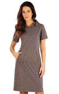 Damen lang Kleid, kurzarm. LITEX