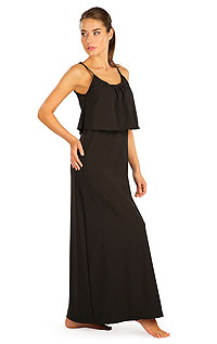 Litex Šaty dámské dlouhé s volánem. 5B187XL 901 - vel. XL černá