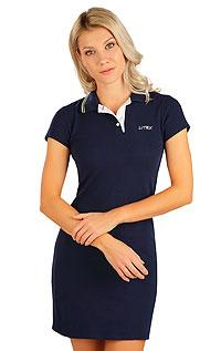 Litex Šaty dámské s krátkým rukávem. 5B299M 514 - vel. M tmavě modrá