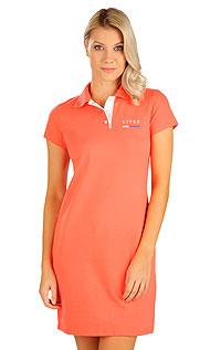 Litex Šaty dámské s krátkým rukávem. 5B303M 201 - vel. M oranžová