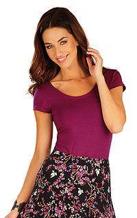 Litex Tričko dámské s krátkým rukávem. - vel. XL vínová
