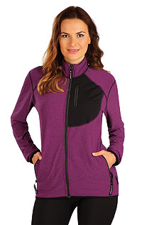 Jogging LITEX > Women´s jumper with stand up collar.