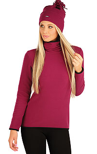 Hoodies, turtlenecks LITEX > Women´s fleece turtleneck.