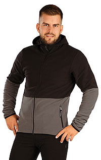 Hoodies, jackets LITEX > Men´s fleece hooded jumper.