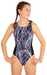 Dievčenské plavky LITEX > Dievčenské jednodielne športové plavky.