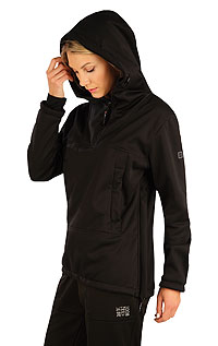 Vests and jackets LITEX > Women´s softshell jacket with hood.