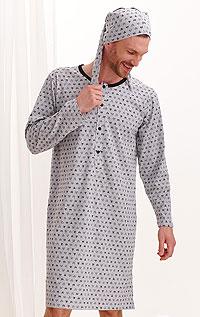 Litex Noční košile pánská s čepičkou. - vel. XXL tisk