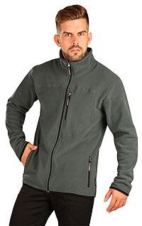 Pánske športové oblečenie LITEX > Fleecová mikina pánska na zips.