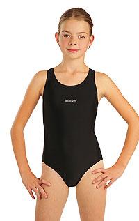 Dievčenské jednodielne športové plavky. | Detské plavky - zľava LITEX