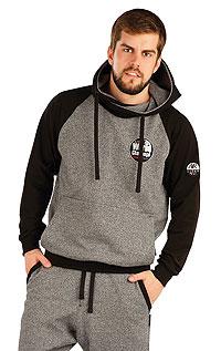 Mikina pánska s prekríženou kapucňou. | Športové oblečenie LITEX