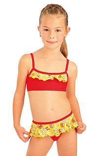 Litex Dívčí plavky top s volánkem. - vel. 98 viz. foto