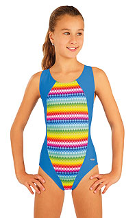 Plavky LITEX > Dievčenské jednodielne športové plavky.