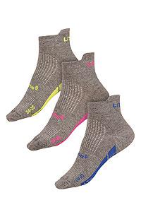Litex Sportovní ponožky CoolMax. - vel. 30-31 reflexně zelená