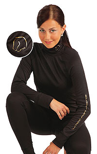 Equestrian clothing LITEX > Women´s thermal turtleneck shirt with long sleeves.