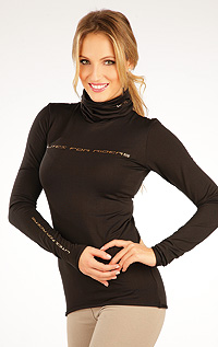 Riding T-shirts LITEX > Women´s  turtleneck with long sleeves.